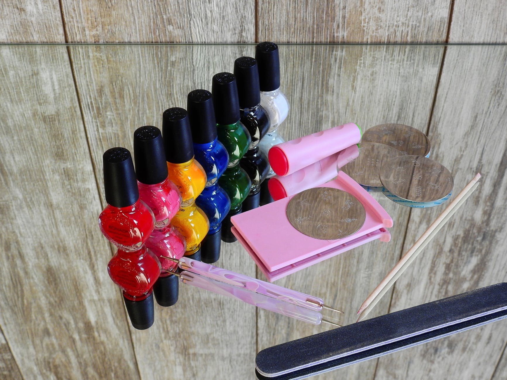 colorful colourful equipment manicure
